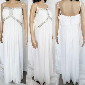 Davids Bridal white wedding evening Dress